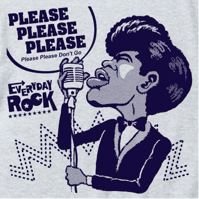 EverydayRock T Shirt James Brown caricature