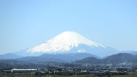 東海道新幹線から富士山