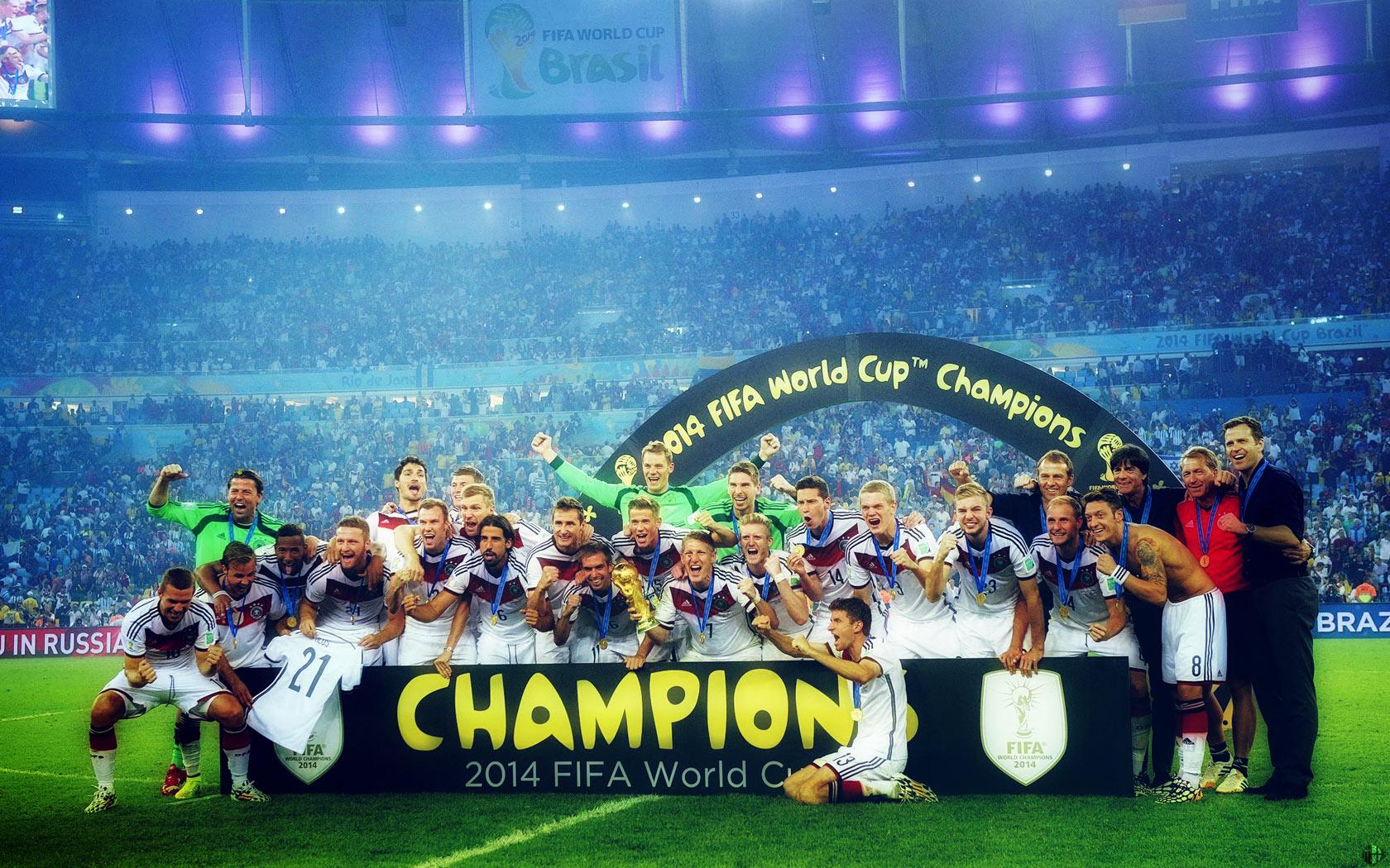 Pc壁紙 ドイツ代表 ブラジルw杯優勝 サッカー壁紙 自分で作った