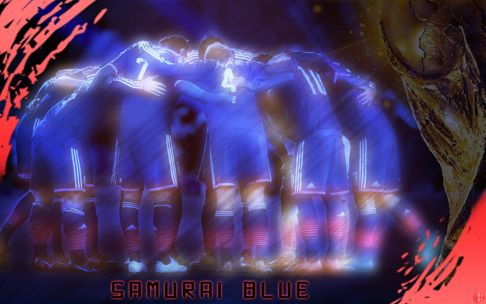 Pc壁紙 Samurai Blue 日本代表 サッカー壁紙 自分で作った