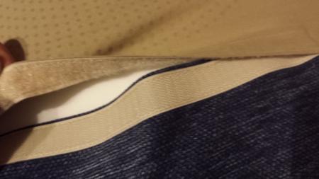 柏のシビルチェアはマジックテープで洗濯可能