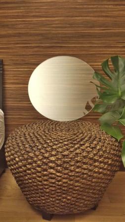 アックスデザイン アジアン家具ウォーターヒヤシンスのガラスを外してみました