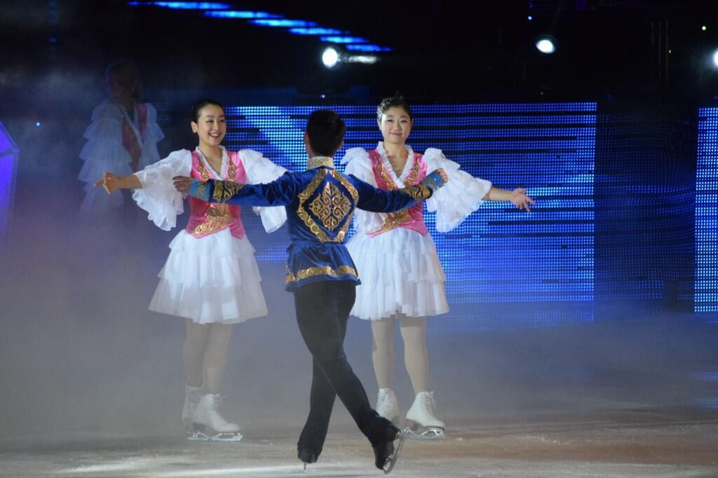 カザフスタンのアイスショー