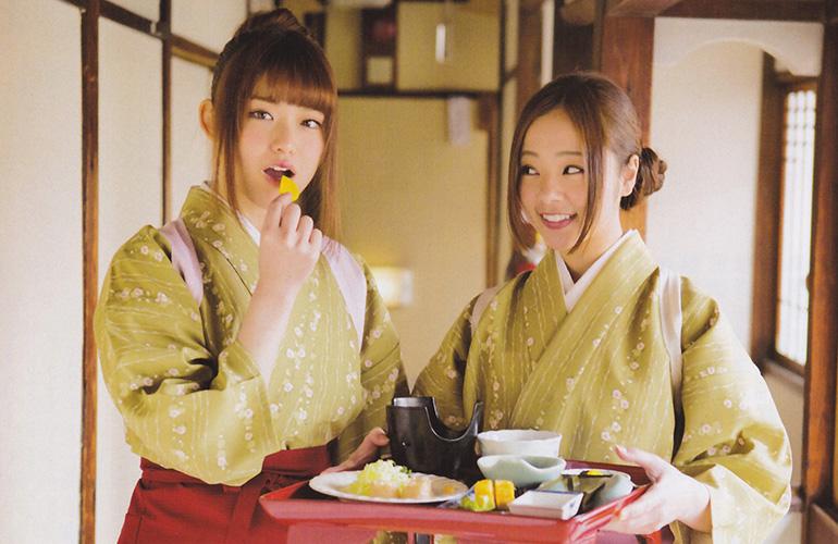 乃木坂46 松村沙友理&川村真洋が旅館の仲居さんをやってみた