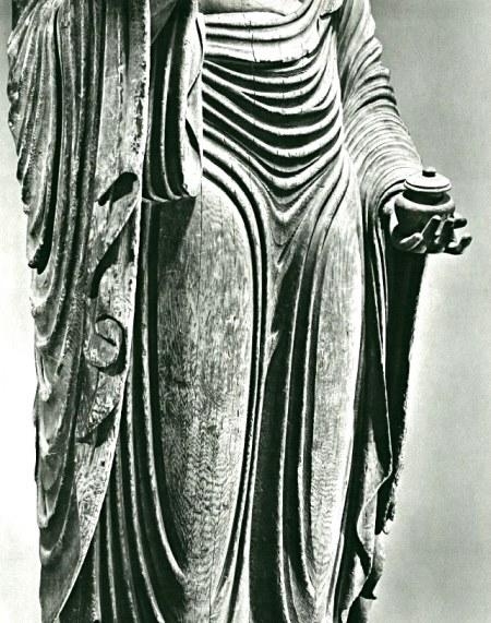 緊張感、迫力ある彫り口の元興寺・薬師如来像