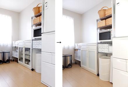 キッチン 白 収納