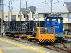 遠州西ヶ崎の電気機関車