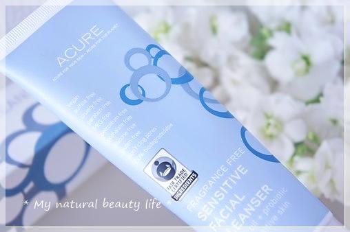 Acure Organics, Sensitive Facial Cleanser, Argan Oil + Probiotic, Unscented