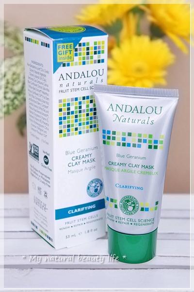 Andalou Naturals, Creamy Clay Mask, Blue Geranium