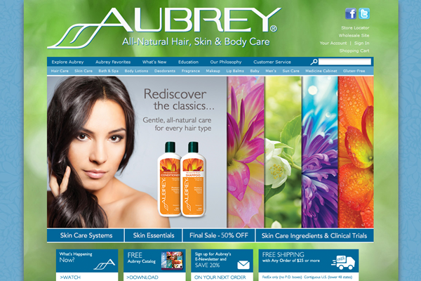 Aubrey - Natural Hair Care, Natural Skin Care and Natural Body Care