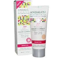 >Andalou Naturals, CC Moisturizing Color + Correct, Sheer Nude with SPF 30, Sensitive
