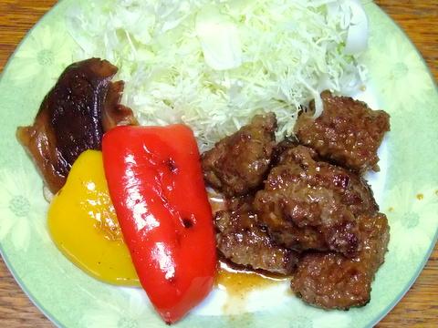 合いびき肉で焼き肉