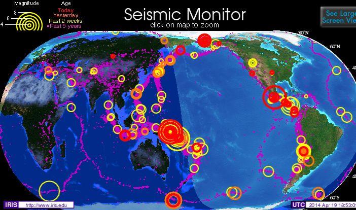 【海外地震】 1ヶ月でこれはやばいな