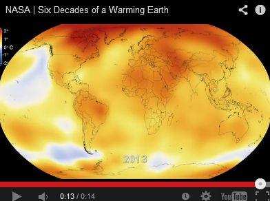 【NASA】 これを見れば一目瞭然!! 60年間の地球温暖化の様子がよくわかる動画