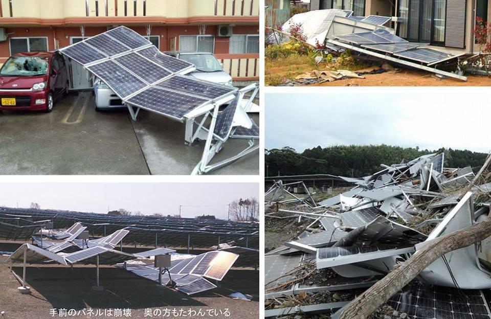 【ソーラー】 震災後から大流行の太陽発電ですが、台風とのコラボレーションをご覧ください