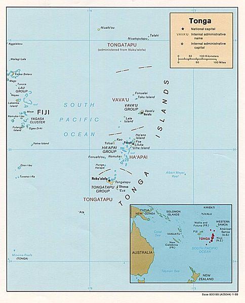 トンガ沖でM6.5の地震