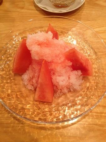 フルーツパーラーゴトー 西瓜のかき氷